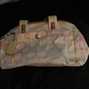 Multicolored Coach Purse